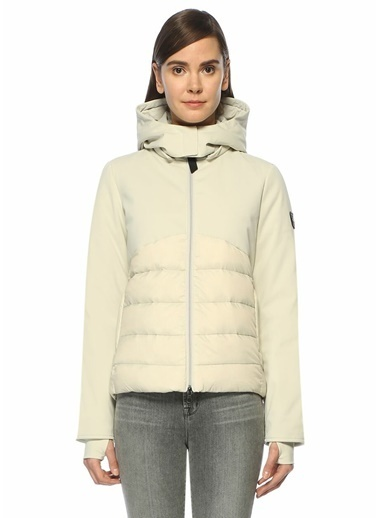 Gertrude Kapüşonlu Şişme Mont Beyaz